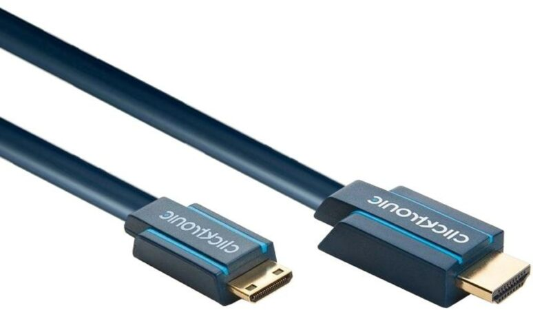 Afbeelding van Clicktronic HDMI Aansluitkabel [1x HDMI-stekker - 1x HDMI-stekker C mini] 5.00 m Blauw