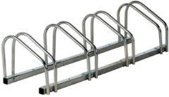 Zilveren Bicycle Gear Fietsenrek voor 4 Fietsen