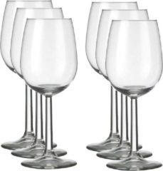 Transparante Merkloos / Sans marque 6x Luxe wijnglazen voor witte wijn 230 ml Bouquet - 23 cl - Witte wijn glazen - Wijn drinken - Wijnglazen van glas