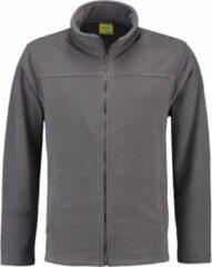 L&S Grijs fleece vest met rits voor volwassenen M (38/50)