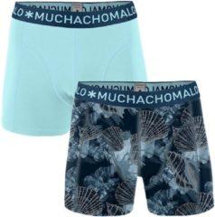 MuchachoMalo - Heren 2-pack Boxershorts Printed Coral Lichtblauw - S