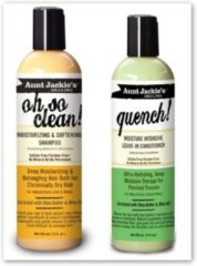 Aunt Jackies Aunt Jackie's Oh so Clean! Shampoo & Quench Leave-in Conditioner 12 Oz Each