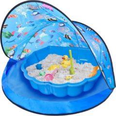 Paradiso Toys Speeltent Met Zandbak 120 X 80 Cm Blauw