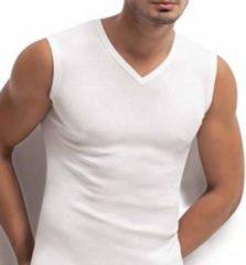 3 stuks - Bonanza V-hals A-shirt - mouwloos - wit - S