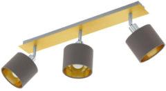 EGLO 97538 plafondverlichting Bruin, Goud, Zilver E14 10 W
