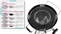 Zwarte Tepro 8568 Hoofgrillrooster voor Ø57cm met Centraal Inzetrooster Systeem