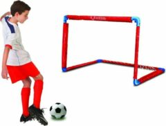 F2Sport Messi minigoal training system, opvouwbaar doel afm. 55x44x44 cm kleur rood/blauw, voetbaldoel, kaboutervoetbal