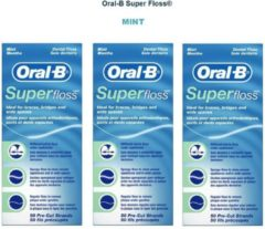 Oral-B Superfloss Mint - 3 x 50 stuks - Flosdraad - Voordeelverpakking