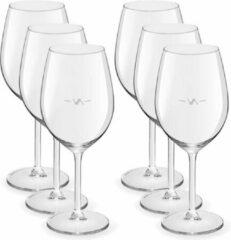 Transparante Royal Leerdam 12x Wijnglazen voor rode wijn 530 ml Esprit - 53 cl - Rode wijn glazen met maatstreep - Wijn drinken - Wijnglazen van glas