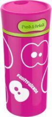 Roze Fruitfriends Drinkbeker Push - RVS - 300 ml - Pink