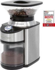 Roestvrijstalen ProfiCook PC-EKM 1205 Elektrische koffiemolen met maalwerk, 16-traps instelbare maalgraad (grof tot extra fijn), geschikt voor bijvoorbeeld filterkoffie, handfiltratie, Turkse koffie. Behuizing van roestvrij staal