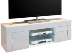Pesaro Mobilia Tv-meubel Easy 138 cm breed - hoogglans wit