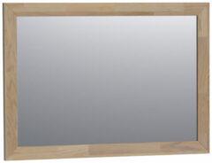Grijze Saniclass Natural Wood spiegel 100x70x1.8cm rechthoek vingerlas zonder verlichting Grey Oak 30070