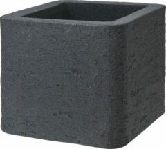 Antraciet-grijze Nampook Bloempot Natural Cube Klein Kunststof Antraciet
