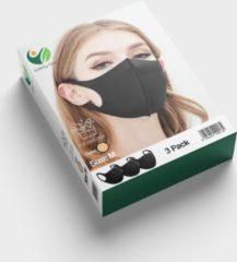 Naturelkleurige SafetyFirst Safety First Wasbaar Gezichtsmasker | Naturel | 3 Pack | Voordeelverpakking