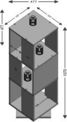 Beige FMD Draaikast open ontwerp 34x34x107 cm antiek-eikenkleurig