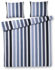 Day Dream Teun dekbedovertrek - 100% katoen - Lits-jumeaux (240x200/220 cm + 2 slopen) - 2 stuks (60x70 cm) - Blauw