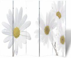 Witte VidaXL Kamerverdeler inklapbaar bloem 200x170 cm