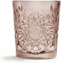 Roze Libbey Hobstar waterglas (Ø8,7 cm) (set van 6)