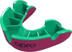 OPRO Gebitsprotectie Unisex Silver Junior - 222300 Roze/Fluo groen