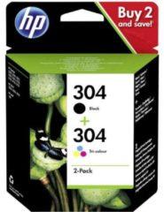 HP 304 Cartridge Combipack Origineel Zwart, Cyaan, Magenta, Geel 3JB05AE Cartridge multipack