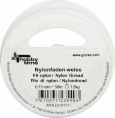 Glorex Hobby Nylon hobby draad wit 0,15 mm x 50 meter