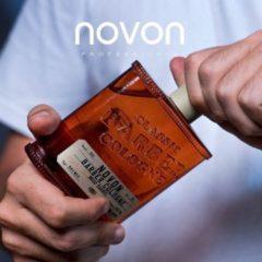 THE PERFECT GIFT! NOVON CLASSIC BARBER COLOGNE WOOD BARREL 185 ML - Aftershave - De geur van houten vaten in eenWHISKEY BOTTLE