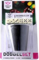 Longfield Dobbelsteenset - scoreblok - 6 dobbelstenen