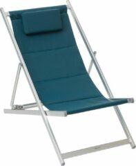 Hespéride Hesperide Honolulu Outdoor Strandstoel Blauw - vouwstoel - ligstoel - campingstoel - Canard - Gewatteerde canvas