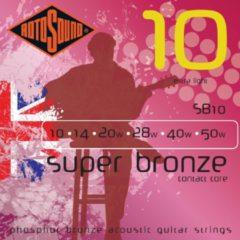 Rotosound SB10 Super Bronze akoestische gitaarsnaren .010-.050w