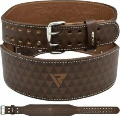 RDX Sports RDX ARLO 4 Inch Medium Tan Leather Weightlifting Belt - Maat: XL - Bruin - NAPPA-leer