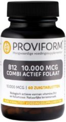 Proviform Vitamine B12 10.000 mcg combi actief folaat 60 Zuigtabletten