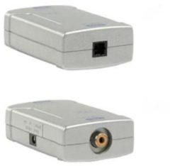 Goobay AVW 4 Coax Toslink Zwart, Wit kabeladapter/verloopstukje