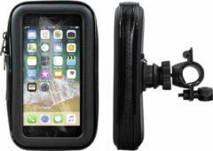 Zwarte Shop4 telefoonhouder fiets - Apple iPhone 6/6s - Waterdicht