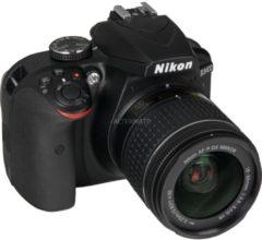 Nikon D3400 + AF-P DX 18-55 mm 1:3.5-5.6G VR SLR-Kamera-Set 24.2MP CMOS 6000 x 4000Pixel Schwarz VBA490K001