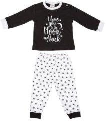 """Zwarte Beeren ondergoed Beeren Baby pyjama """"To the Moon"""" Zwart maat 50/56"""