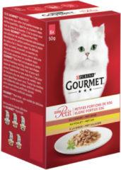 Purina Gourmet Mon Petit - Eend, Kip en Kalkoen - Kattenvoer - 6 x 50 g