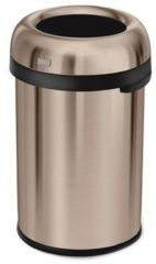 Roze Simplehuman Afvalemmer Bullet Open Top Can - 115 liter - Rose Gold