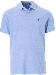 Lichtblauwe Ralph Lauren Custom slim fit polo van piqué katoen