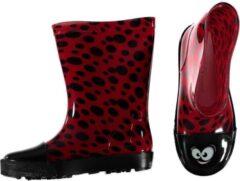 Rode Bellatio Peuter regenlaarzen met lieveheersbeestje print 24
