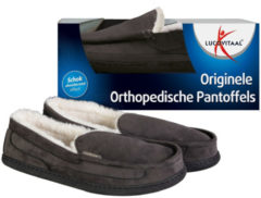 Zwarte 2x Lucovitaal Orthopedische Pantoffel Maat 41-42 1 paar