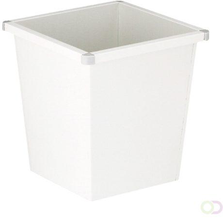 Afbeelding van Vepabins Vierkanttapse papierbak - 27L - wit