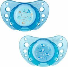 Chicco 00075021210000 fopspeen Klassieke speen Orthodontisch Rubber Blauw