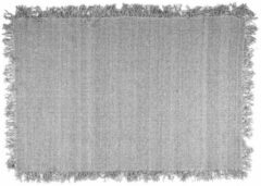 Licht-grijze By-Boo Vloerkleed 'Woolie' 160 x 230cm, kleur Lichtgrijs