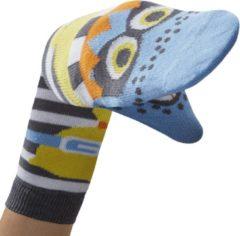 Lichtblauwe WALKYTALKIES - Kindersokken - Sokpop - Boef Jongen - Maat 27-30 - 5-6 jaar