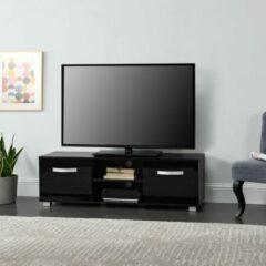 En.casa Tv meubel Laugar met planken 120x40x38 cm zwart