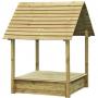 Afbeelding van Outdoor Life Products Zandbak met deksel en dakje