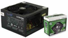 Zwarte Lc-Power LC6450-V2.3 80 Plus Bronze 450W Super Silent Serie Vers. 2.3