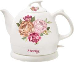 Bestron Waterkoker keramisch DTP800RO rozen 0.8 L wit