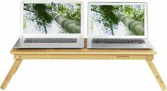 MIRA Home - Laptoptafel - Bedtafel - Basic - Bamboe - Lichtbruin - 72 x (21 – 29) x 35